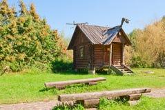 Belorussian wooden hut Royalty Free Stock Photo