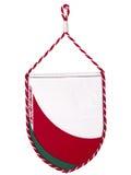 Belorussische Wimpel- oder Dreieckmarkierungsfahne von Belarus Lizenzfreies Stockfoto