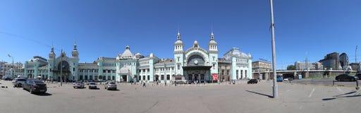 Belorussky火车站--是九个主要火车站之一在莫斯科,俄罗斯 库存照片