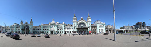 Belorussky railway station-- is one of the nine main railway stations in Moscow, Russia Stock Photos