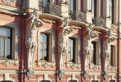 Дворец Beloselsky-Belozersky, часть экстерьера, StPetersburg, Россия Стоковые Фотографии RF