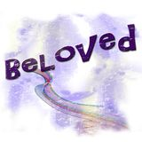 Beloved pastel word graphic royalty free stock image