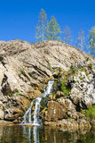 Belovsky waterfall is a natural attraction Royalty Free Stock Image