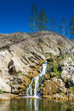Belovsky waterfall is a natural attraction Stock Photos