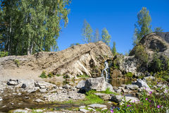 Belovsky waterfall is a natural attraction Royalty Free Stock Images