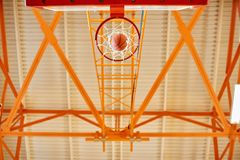 From below basketball goal royalty free stock photo