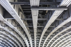 Below Blackfriars Railway Bridge, London. Abstract view under the Blackfriars Railway Bridge in London, UK Stock Image