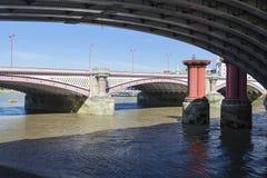 Below Blackfriars Railway Bridge, London Stock Photos