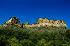 Below the Castle walls royalty free stock image