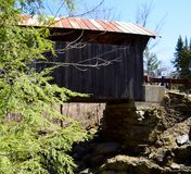 Below a Covered Bridge Stock Photo