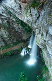 Below the Holy Cave of Covadonga II Royalty Free Stock Images