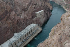 Below Hoover Dam Stock Photography