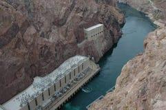 Below Hoover Dam. Colorado River below Hoover Dam, Boulder City, Nevada stock photography