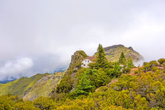 Below mountain peak Pico Ruivo, Madeira Royalty Free Stock Image