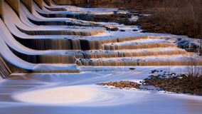 Gold blue falls Stock Photo
