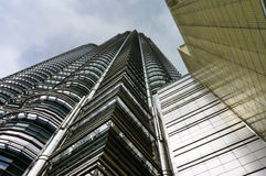 Below Petronas Twin Towers Royalty Free Stock Image