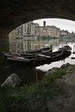 Below Ponte Vecchio, Old Bridge in Florence Royalty Free Stock Photo