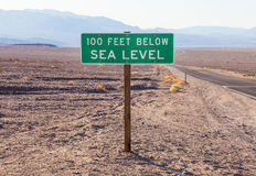Below sea level Stock Images