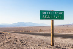 Below sea level Royalty Free Stock Photography
