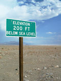 Below sealevel Royalty Free Stock Images