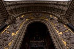 Exterior arch with wonderful stucco Stock Photos