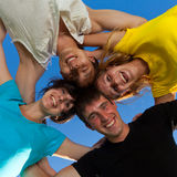 Below view of joyful teens Royalty Free Stock Photo