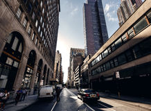 Below view on skyscrapers in New York Stock Photography