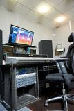 Control board and monitors in studio royalty free stock photography