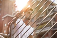 Handsome man in sunlight Royalty Free Stock Image