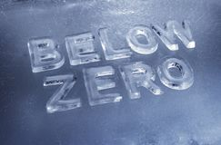 Below Zero Stock Images