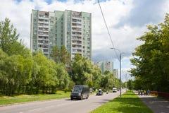 Belozerskaya Street in Moscow Stock Image