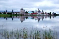 belozersky kirillo修道院 免版税库存照片