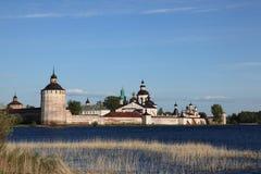 belozersky kirilloklosteröverblick russia Arkivbilder