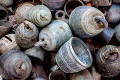 Bels de bronze antigas imagem de stock royalty free