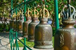 Bels em um templo budista Foto de Stock