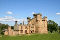 belsay城堡 免版税库存照片
