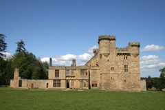 Belsay Castle. Beautiful old Northumbrian Castle, surrounded by wonderful parkland royalty free stock photography
