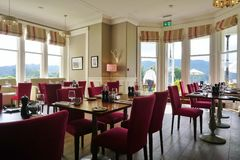 The Belsfield Hotel in Bowness Bay overlooking Lake Windermere Royalty Free Stock Photos