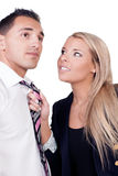Belästigung an dem Arbeitsplatz Stockfoto