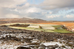 Belstone snow Royalty Free Stock Images