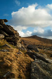 Belstone Tor Dartmoor Devon. Belstone tor dartmoor landscape moorland Stock Photo