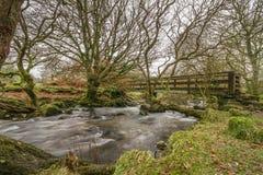 Belstonebrug, Dartmoor Royalty-vrije Stock Afbeelding