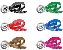 Belt. A belt in six colors, with a very nice buckle Royalty Free Stock Photography