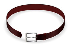 Belt. Vector leather belt isolated on whie Royalty Free Stock Image