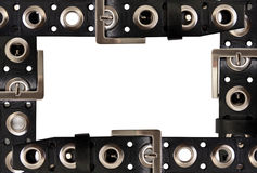 Belt. Frame of the belts isolated on white background stock photography