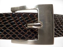 Belt. Black Belt with Buckle Stock Images