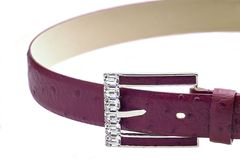 Belt. Leather belt with diamonds Stock Images