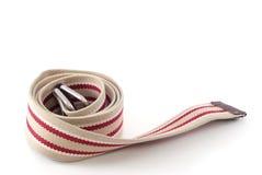 Belt. Fabric belt isolated on white background Royalty Free Stock Photos
