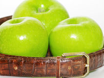 Belt with apples Royalty Free Stock Photography