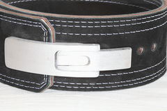 Belt for powerlifting. Royalty Free Stock Images
